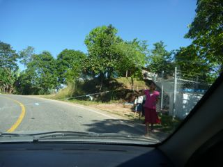 Chiapas  road barrier
